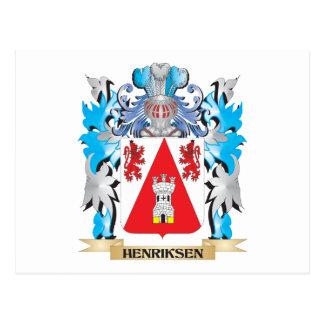 Escudo de armas de Henriksen - escudo de la Postal