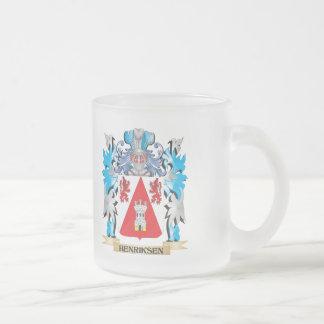 Escudo de armas de Henriksen - escudo de la Taza Cristal Mate