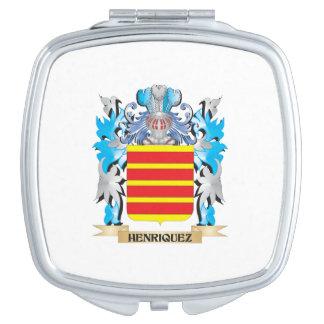 Escudo de armas de Henriquez - escudo de la Espejo Compacto