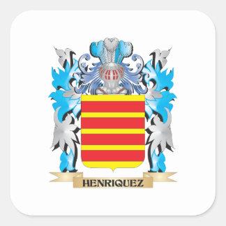 Escudo de armas de Henriquez - escudo de la Pegatina Cuadrada