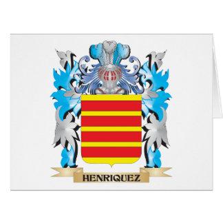 Escudo de armas de Henriquez - escudo de la Tarjeta De Felicitación Grande