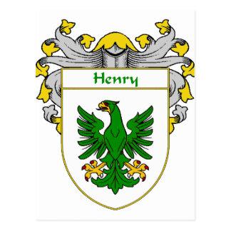 Escudo de armas de Henry (cubierto) Tarjeta Postal