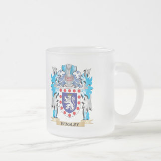 Escudo de armas de Hensley - escudo de la familia Taza Cristal Mate