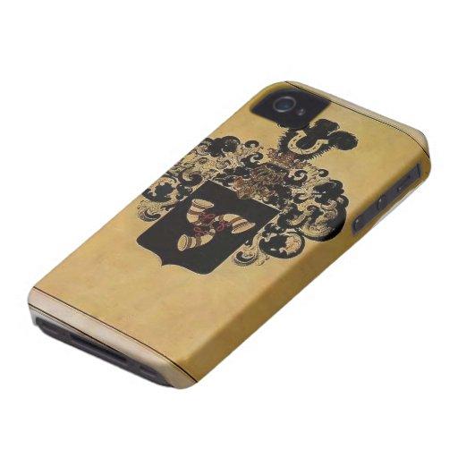 Escudo de armas de Heorhiy Narbut- de la familia d iPhone 4 Case-Mate Cobertura