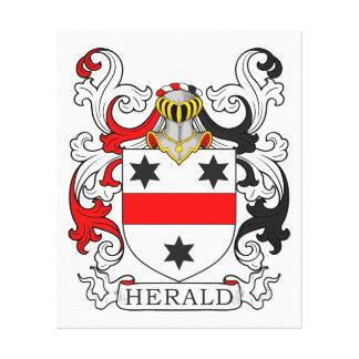 Escudo de armas de Herald Impresión En Lona