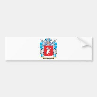 Escudo de armas de Hermansson - escudo de la Pegatina De Parachoque