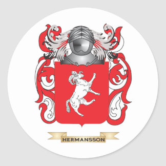 Escudo de armas de Hermansson (escudo de la Pegatina Redonda
