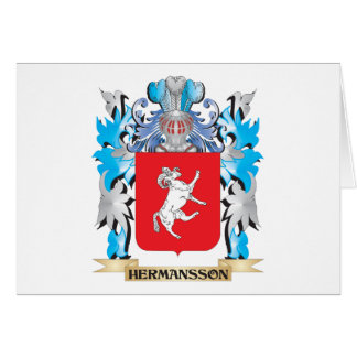 Escudo de armas de Hermansson - escudo de la Tarjeta Pequeña