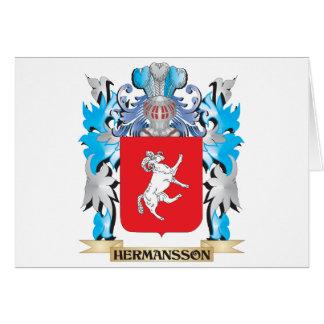 Escudo de armas de Hermansson - escudo de la Tarjeta De Felicitación