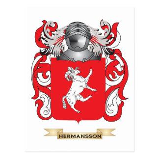 Escudo de armas de Hermansson (escudo de la Postal