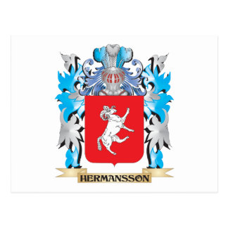 Escudo de armas de Hermansson - escudo de la Postal