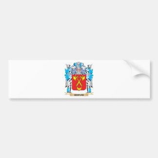 Escudo de armas de Hernan - escudo de la familia Pegatina Para Auto