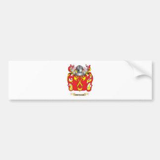 Escudo de armas de Hernan (escudo de la familia) Pegatina Para Auto