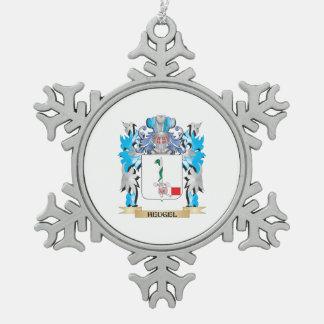 Escudo de armas de Heugel - escudo de la familia Adorno De Peltre En Forma De Copo De Nieve