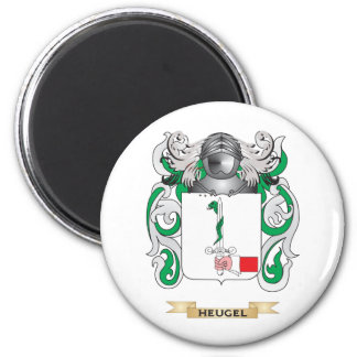 Escudo de armas de Heugel (escudo de la familia) Imán Redondo 5 Cm