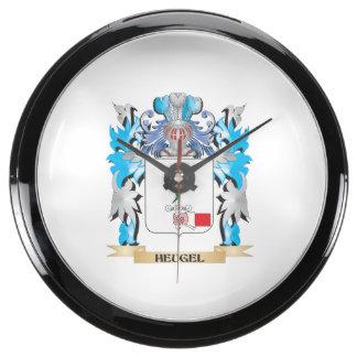 Escudo de armas de Heugel - escudo de la familia Relojes Acuario