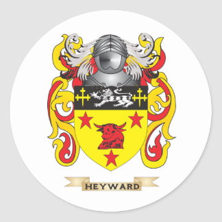 Escudo de armas de Heyward (escudo de la familia) Pegatinas Redondas