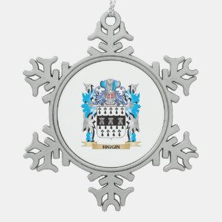 Escudo de armas de Higgin - escudo de la familia Adorno De Peltre En Forma De Copo De Nieve