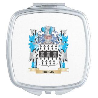 Escudo de armas de Higgin - escudo de la familia Espejos Maquillaje