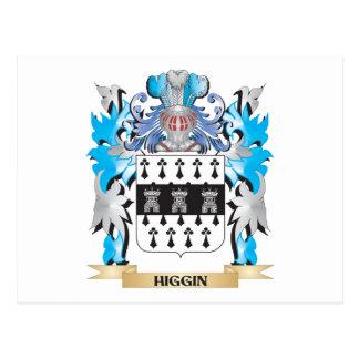 Escudo de armas de Higgin - escudo de la familia Tarjetas Postales