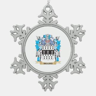 Escudo de armas de Higgins - escudo de la familia Adorno De Peltre En Forma De Copo De Nieve