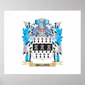 Escudo de armas de Higgins - escudo de la familia Impresiones