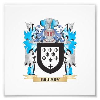 Escudo de armas de Hillary - escudo de la familia Impresión Fotográfica