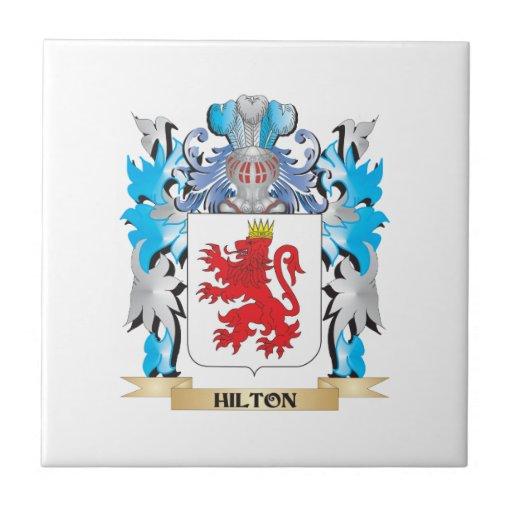 Escudo de armas de Hilton - escudo de la familia Azulejos