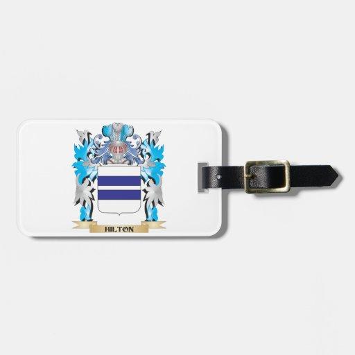 Escudo de armas de Hilton - escudo de la familia Etiquetas Maleta