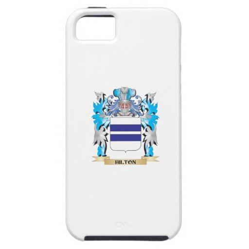 Escudo de armas de Hilton - escudo de la familia iPhone 5 Protectores