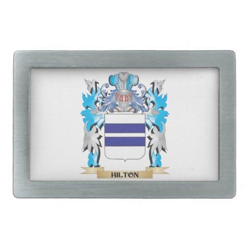 Escudo de armas de Hilton - escudo de la familia Hebillas Cinturón Rectangulares