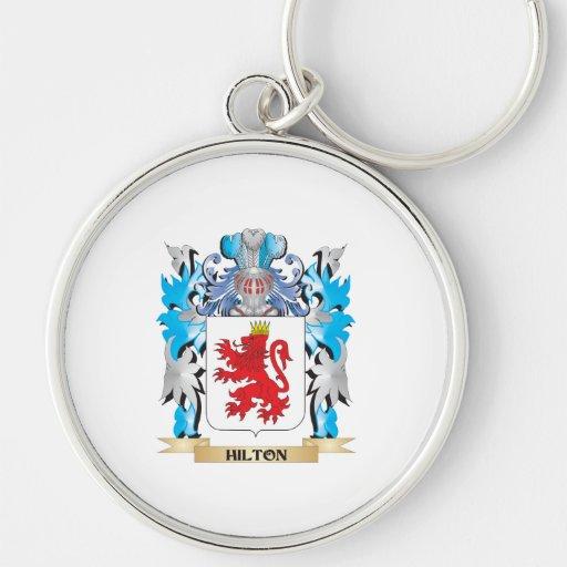 Escudo de armas de Hilton - escudo de la familia Llaveros Personalizados
