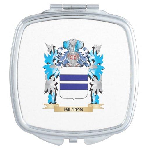 Escudo de armas de Hilton - escudo de la familia Espejos Compactos