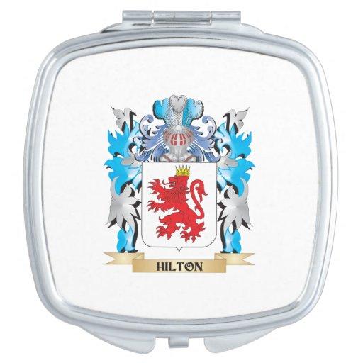 Escudo de armas de Hilton - escudo de la familia Espejos Maquillaje