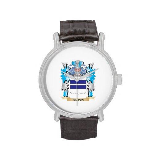 Escudo de armas de Hilton - escudo de la familia Relojes De Pulsera