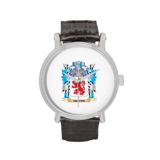 Escudo de armas de Hilton - escudo de la familia Relojes De Mano