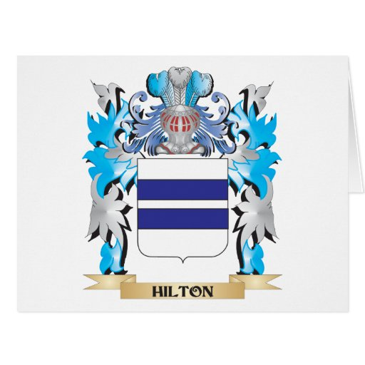 Escudo de armas de Hilton - escudo de la familia Tarjeta
