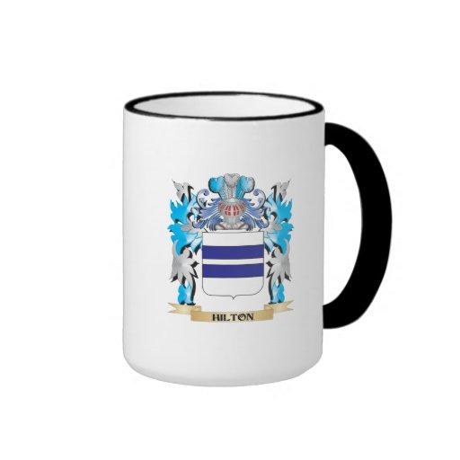 Escudo de armas de Hilton - escudo de la familia Tazas De Café