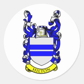Escudo de armas de HILTON Pegatina Redonda