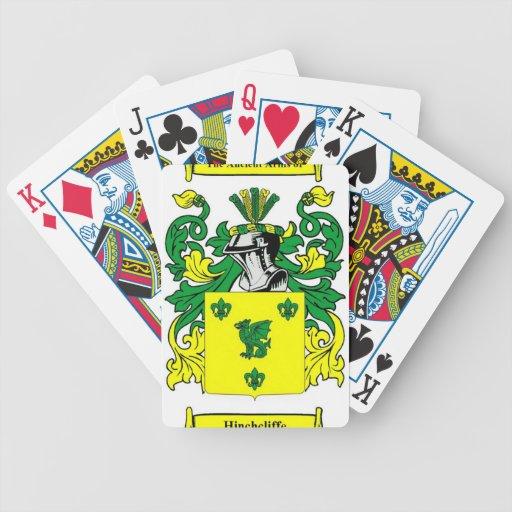 Escudo de armas de Hinchcliffe Baraja Cartas De Poker