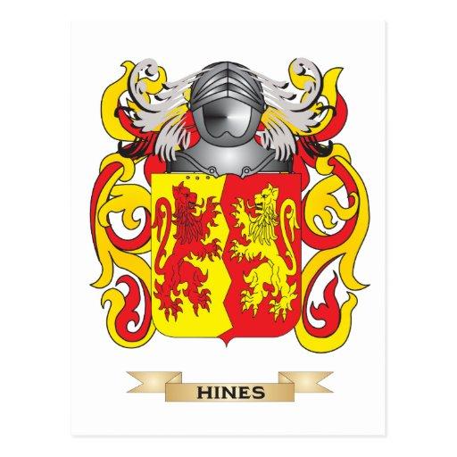 Escudo de armas de Hines (escudo de la familia) Postal