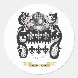 Escudo de armas de Hinton (escudo de la familia) Pegatina Redonda