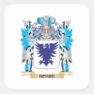Escudo de armas de Hoare - escudo de la familia Pegatina Cuadrada