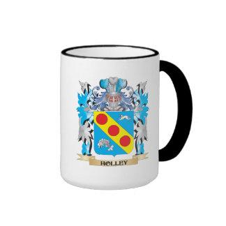 Escudo de armas de Holley - escudo de la familia Taza De Dos Colores