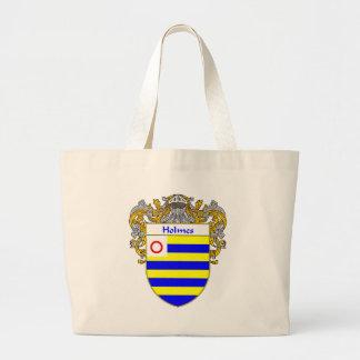 Escudo de armas de Holmes (cubierto) Bolsa Tela Grande