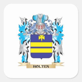 Escudo de armas de Holten - escudo de la familia Pegatina Cuadrada