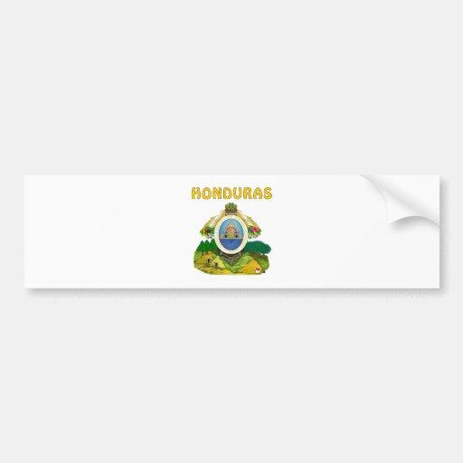 Escudo de armas de Honduras Etiqueta De Parachoque