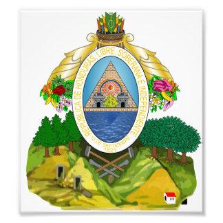 Escudo de armas de Honduras Fotografia
