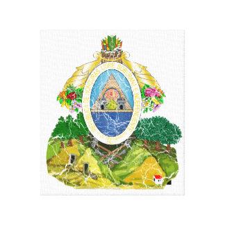 Escudo de armas de Honduras Impresión En Lienzo Estirada