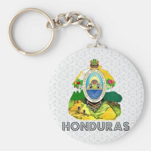 Escudo de armas de Honduras Llavero Redondo Tipo Pin